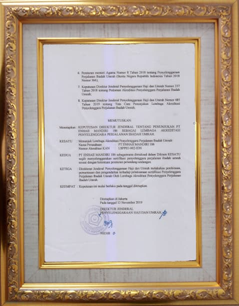 Surat Keterangan Direktorat Jenderal Kementerian Agama | Enhaii